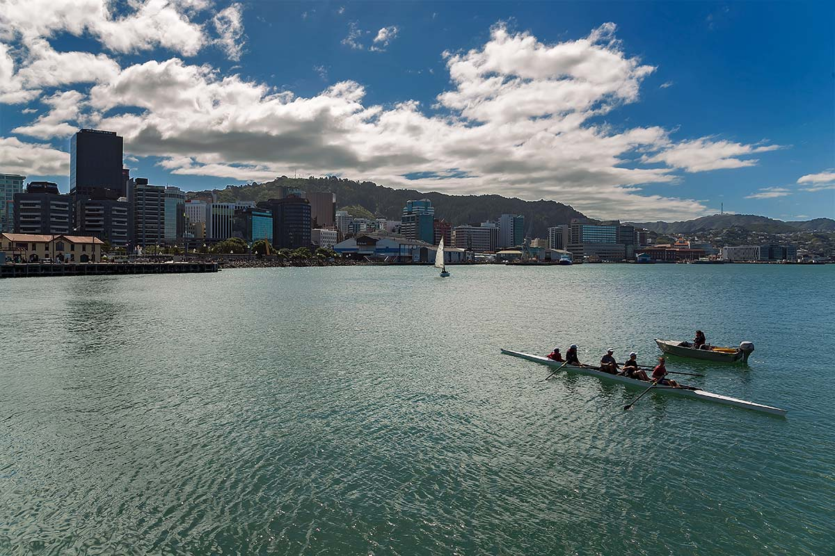 Paddling along the waterfront in a Kayak is also a good way to experience Wellington a different way.