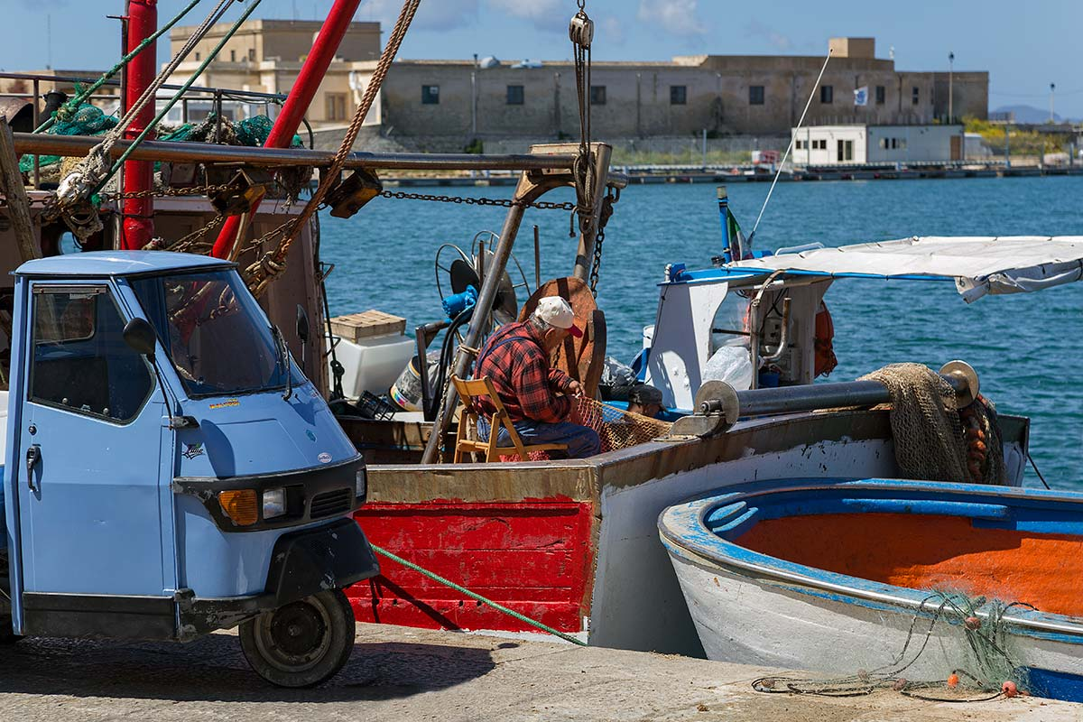 Trapani's fish market is colourful and noisy and a great possibility to get to know a bit of Trapani's daily life. You will get to see some really bizarre fish - and also human - examples.