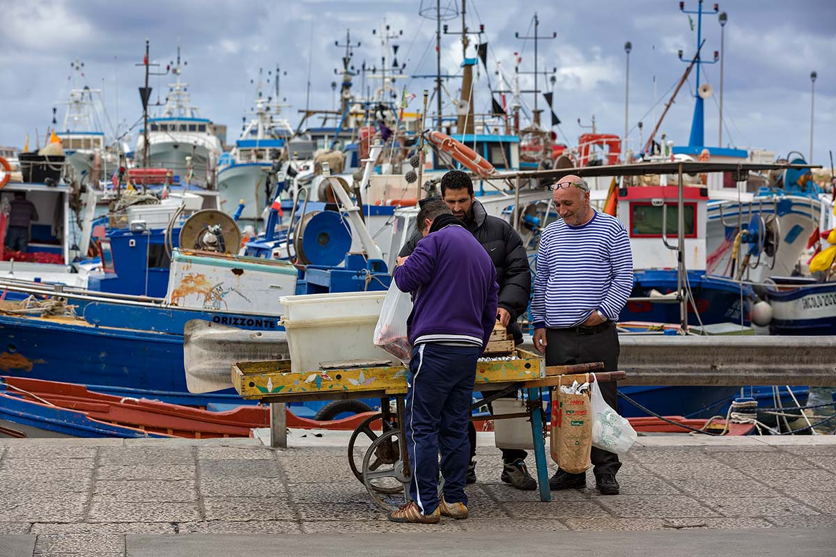 The fish at Trapani's fish market is as fresh as you can get it. We highly enjoyed watching the locals barter for their fish and visit with each other during this morning ritual.