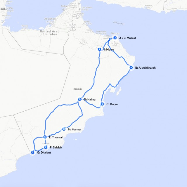 oman road map images