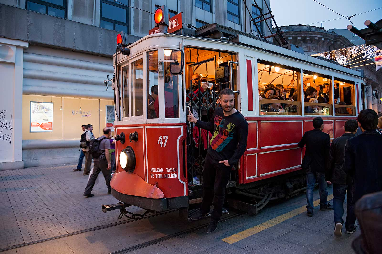 tram-way-shopping-street-istanbul-turkey
