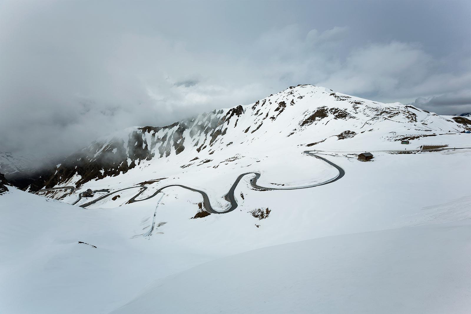 The serpentine curves make the Grossglockner High Alpine Road a popular destination for motor bikers.