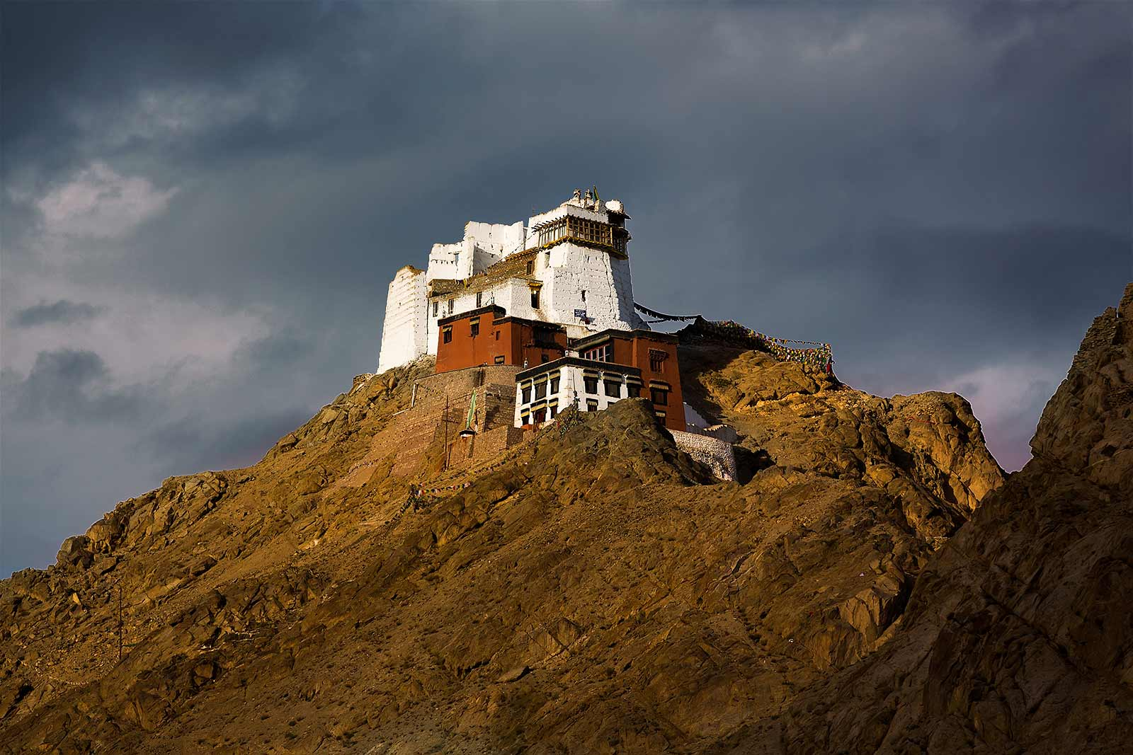 Namgyal Tsemo Gompa is the highest point in Leh with a fantastic birds eye view of the city. One can reach the monastery with a short car ride or by trekking up right from the city centre.