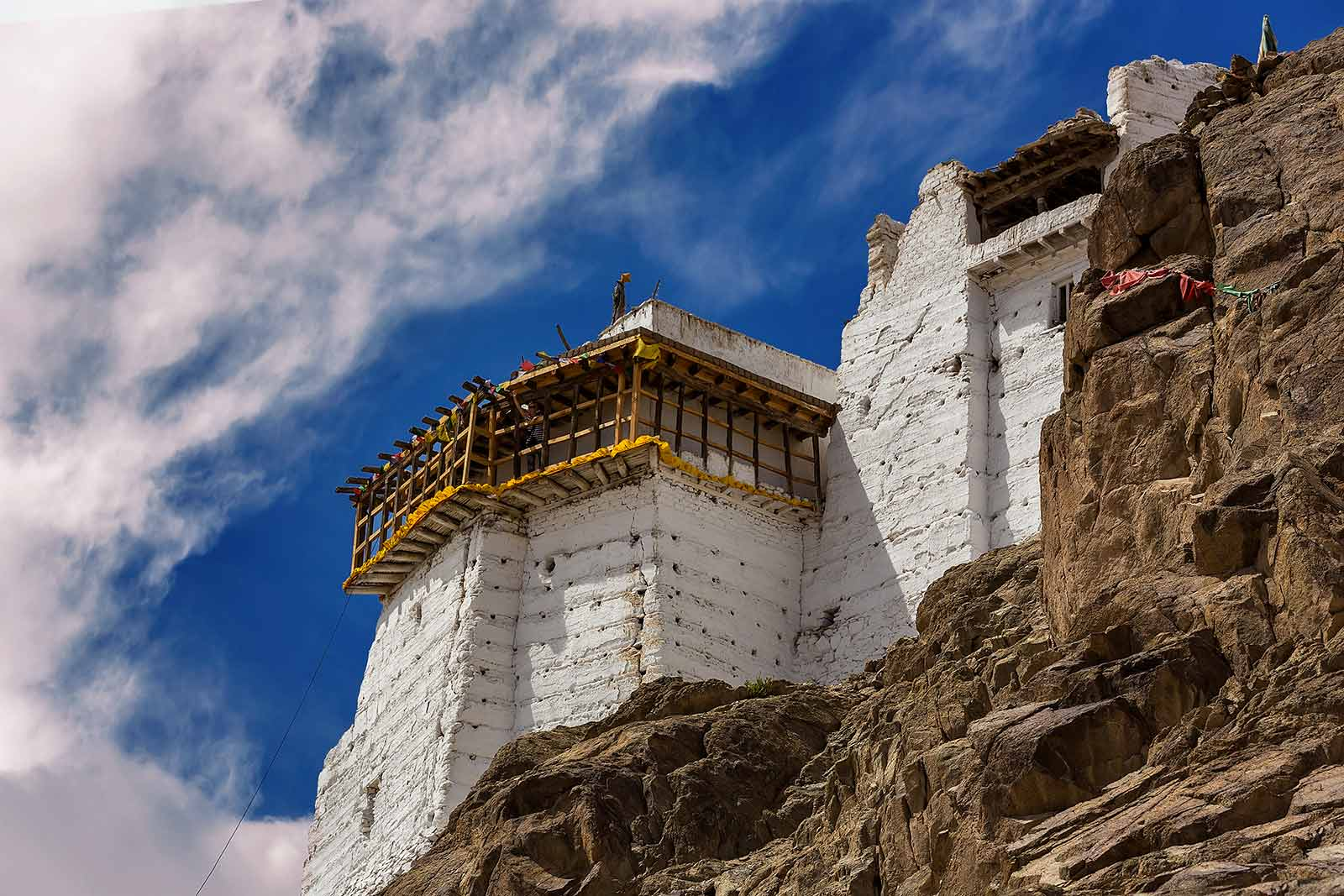 Namgyal Tsemo Gompa was founded in the early 15th century by King Tashi Namgyal.