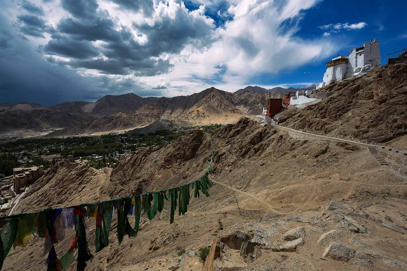 Namgyal Tsemo Gompa stands atop behind Leh Palace. Because of its position, it offers some of the most amazing views of the town.