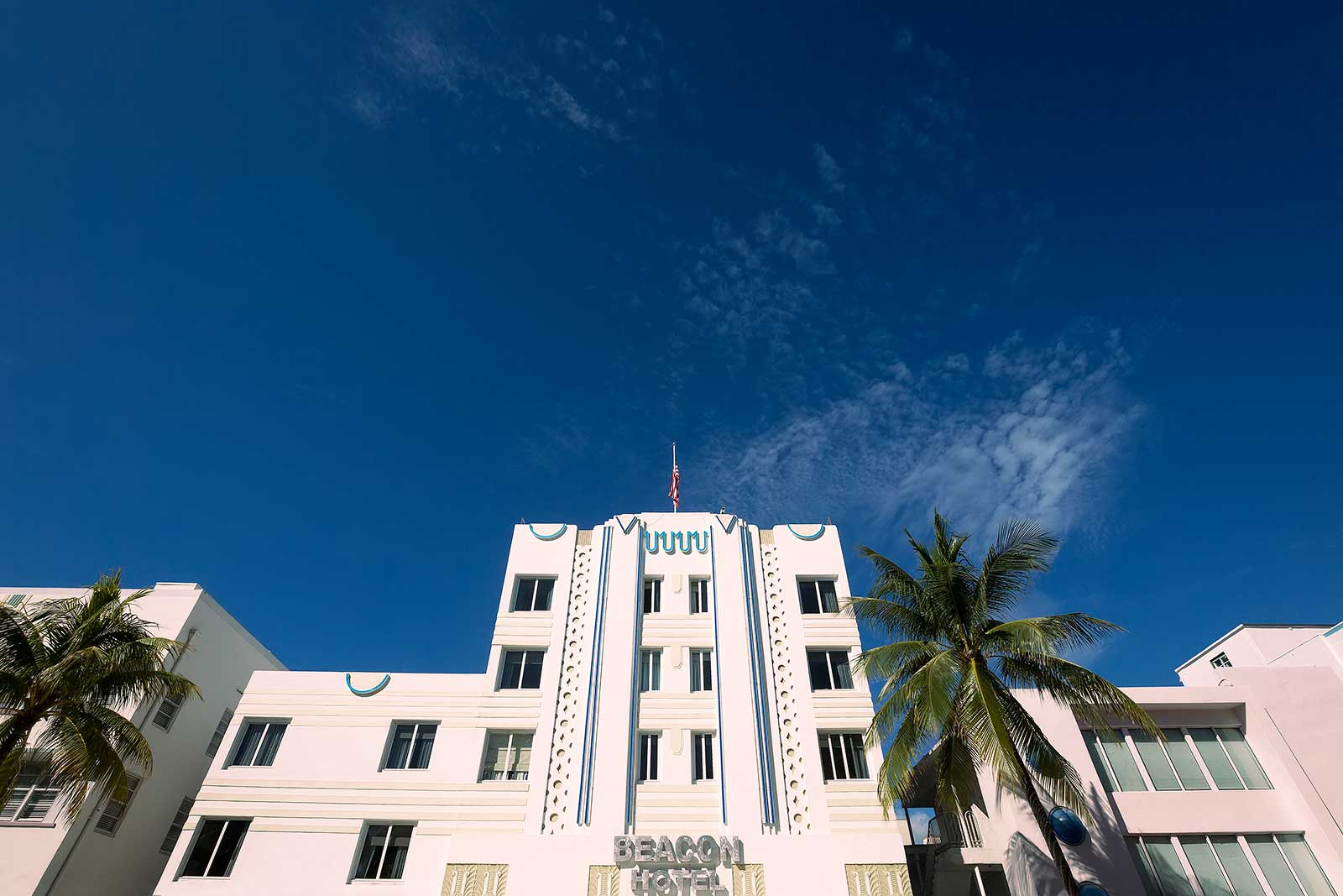 The Beacon Hotel is a luxury boutique hotel on Ocean Drive, right next to South Beach.