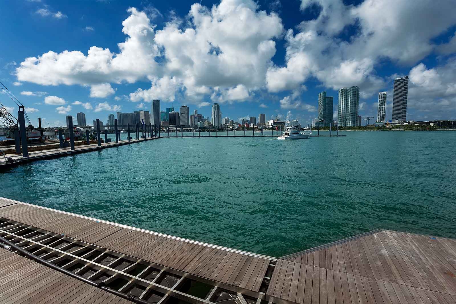You have an amazing view of Miami's skyline from Watson Island.