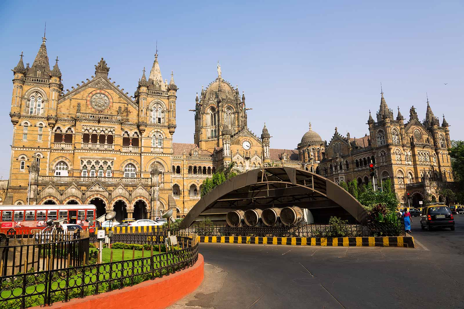 This is the western facade of Chhatrapati Shivaji Terminus (CTS).