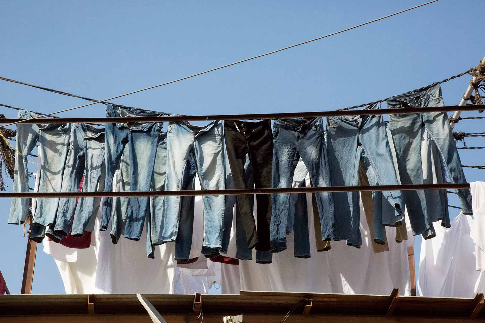 You will find every piece of clothing there is at Mahalakshmi Dhobi Ghat - from socks to linen.