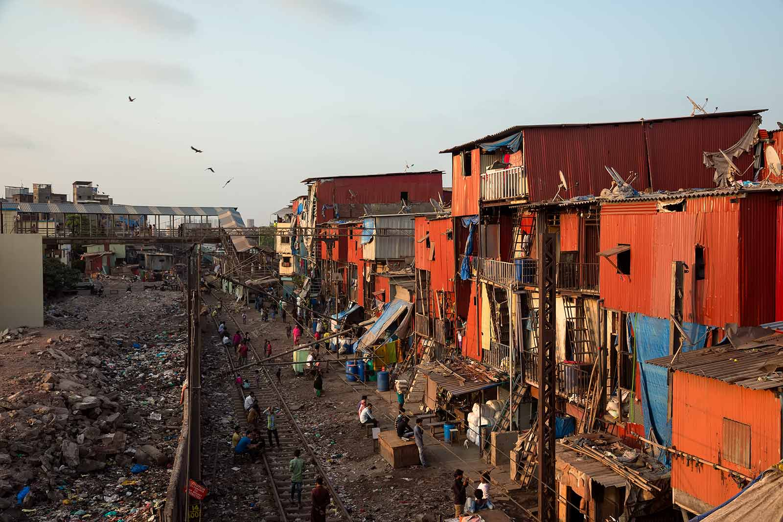 There are many slum areas in Mumbai, with Dharavi as Asia's largest. It is home to approximately 1 million people.