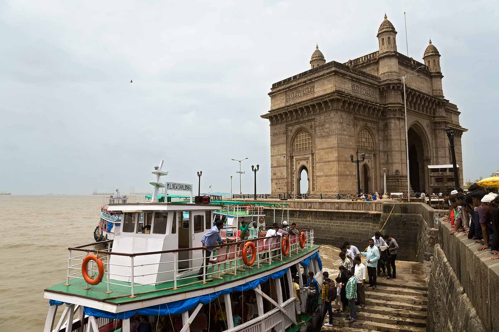 The Gateway of India is the stepping-off point for cruises around the natural harbour of Mumbai.