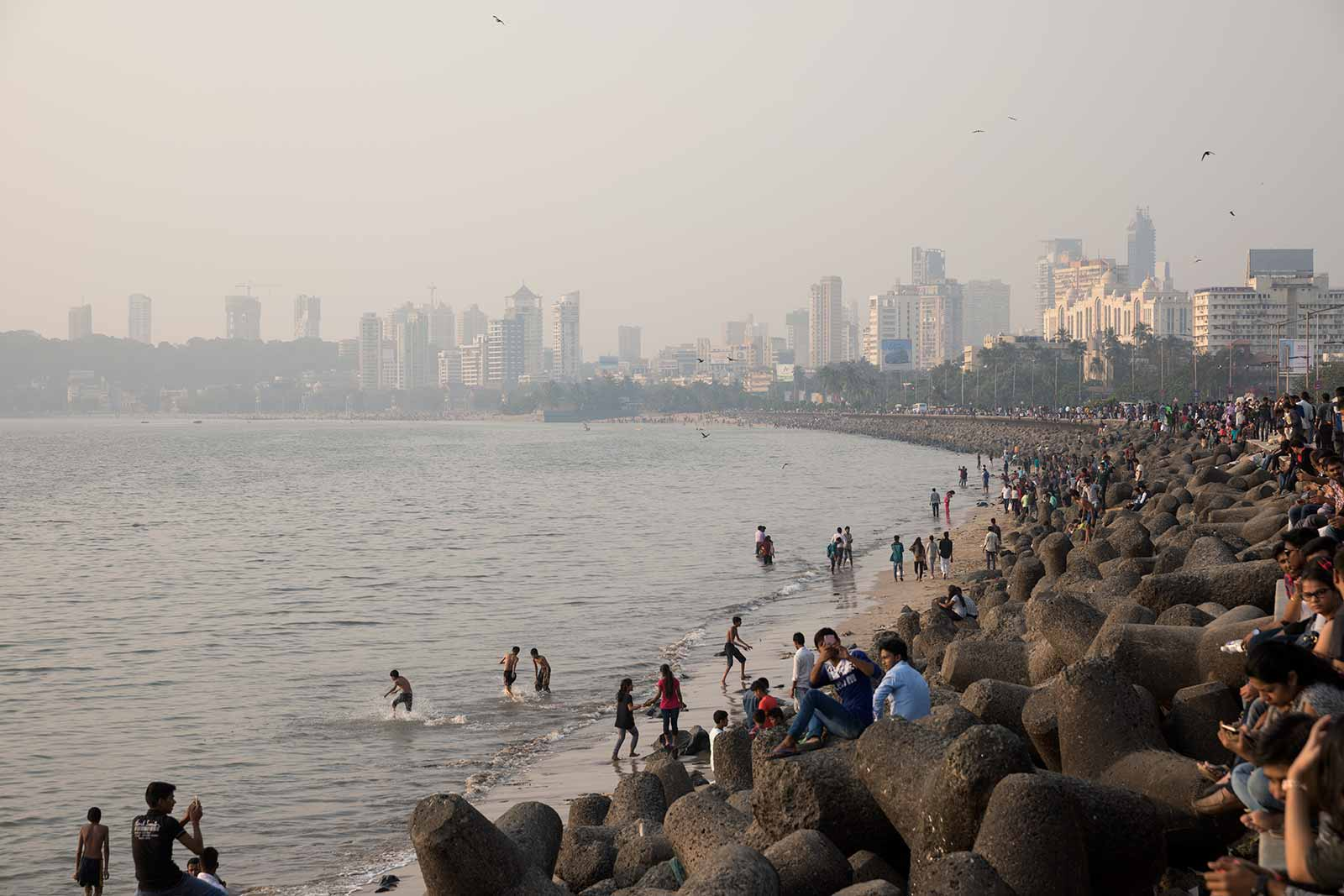 Marine Drive is a 3.6-kilometre-long boulevard in South Mumbai in the city of Mumbai. The road was constructed by late philanthropist Bhagojisheth Keer & Pallonji Mistry.
