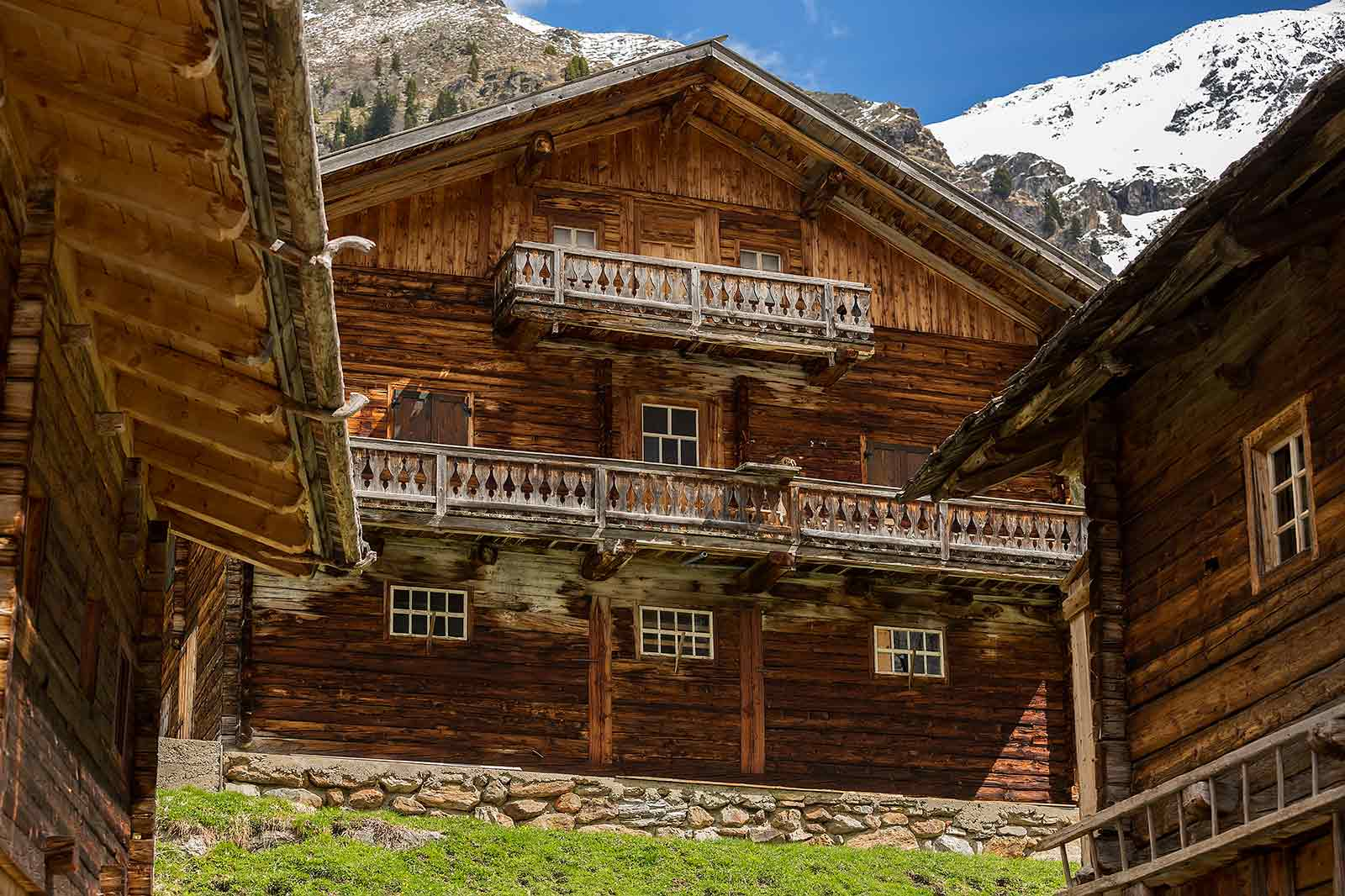 The alpine village Oberstalleralm consists of only 18 rustic alpine huts.