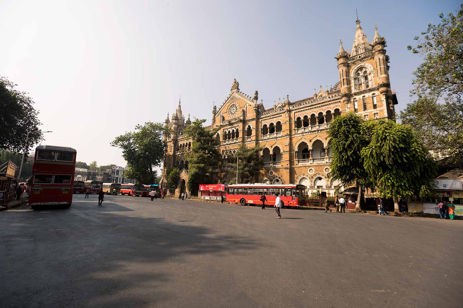 Chhatrapati Shivaji Terminus was built over 10 years, starting in 1878, according to a High Victorian Gothic design.