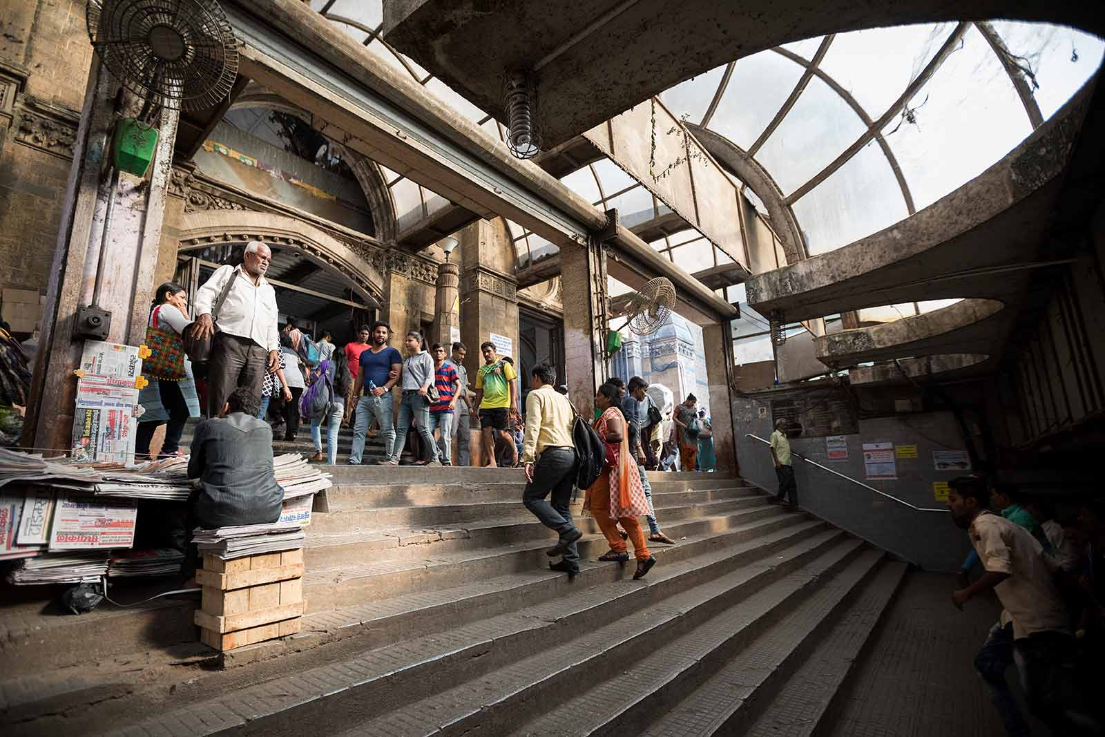 The Mumbai suburban railway operates 2.342 train services. The local trains are the primary mode of transport for hundreds and thousands of people who travel for as many as five hours every day to and from work.