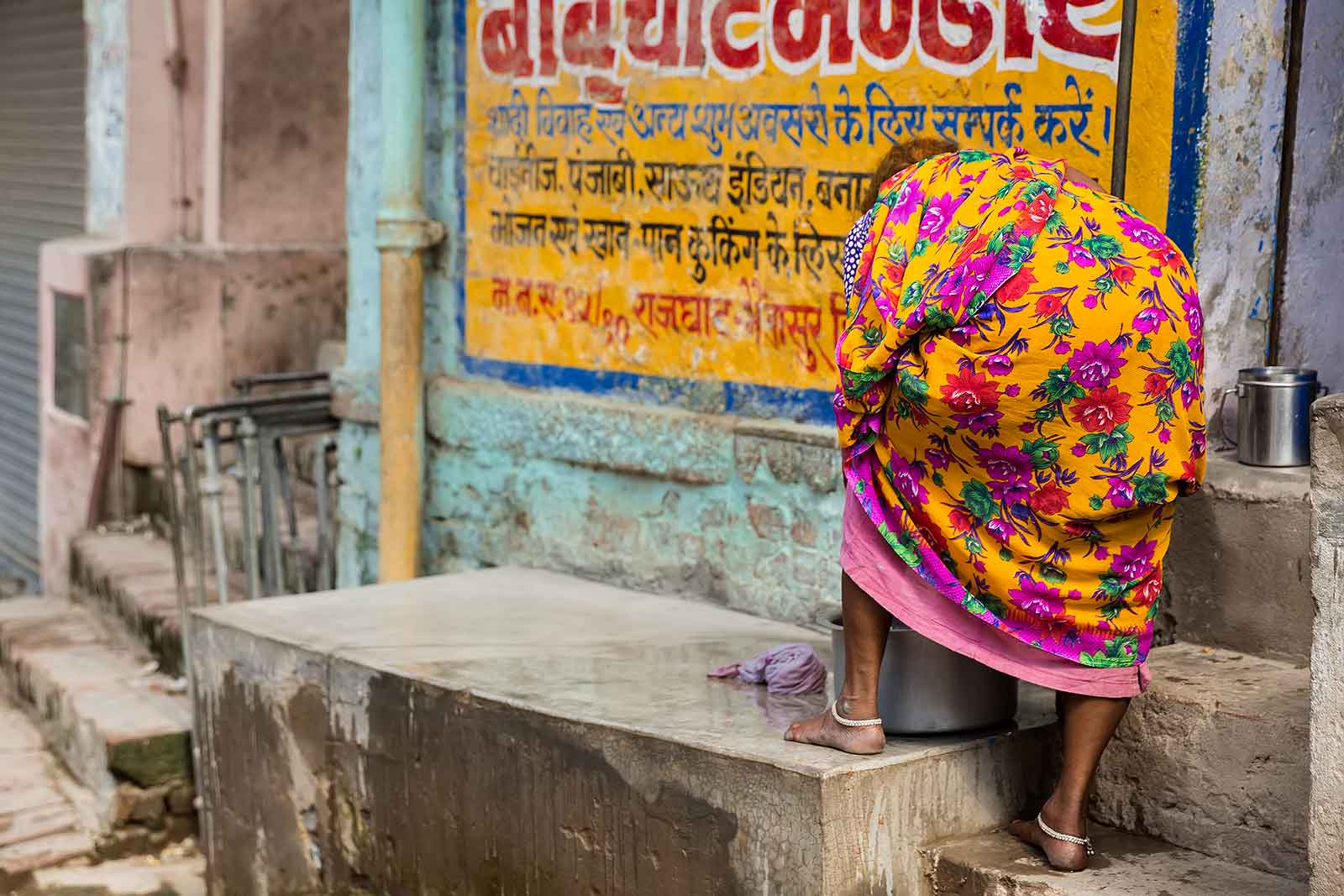 You'll never get enough from walking through the side streets of Varanasi. It's a real colour explosion.