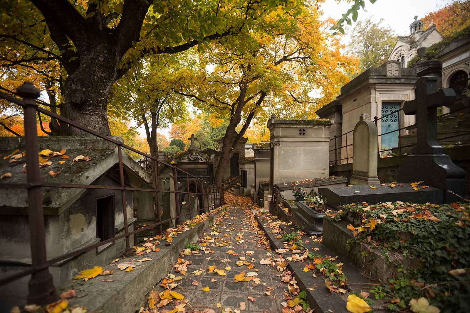 At Père Lachaise cemetery, 70.000 tombs (many of the rich and famous) form a verdant, 44-hectare sculpture garden.