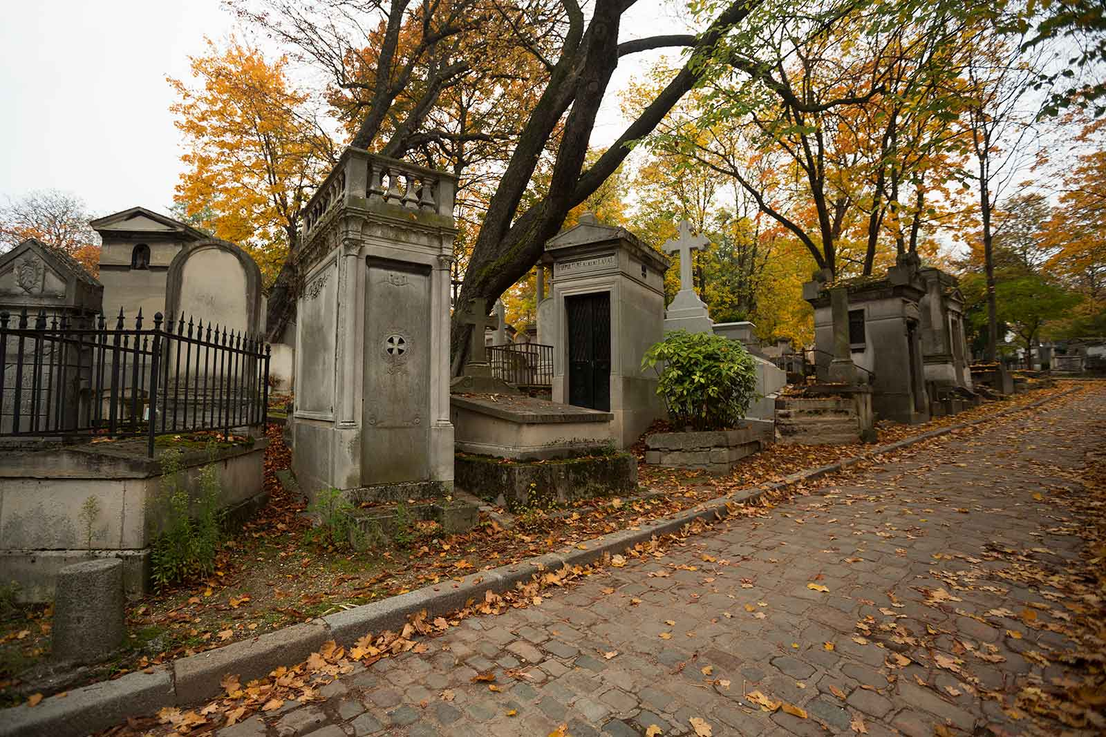 Pere Lachaise cemetery is a major tourist attraction in Paris.