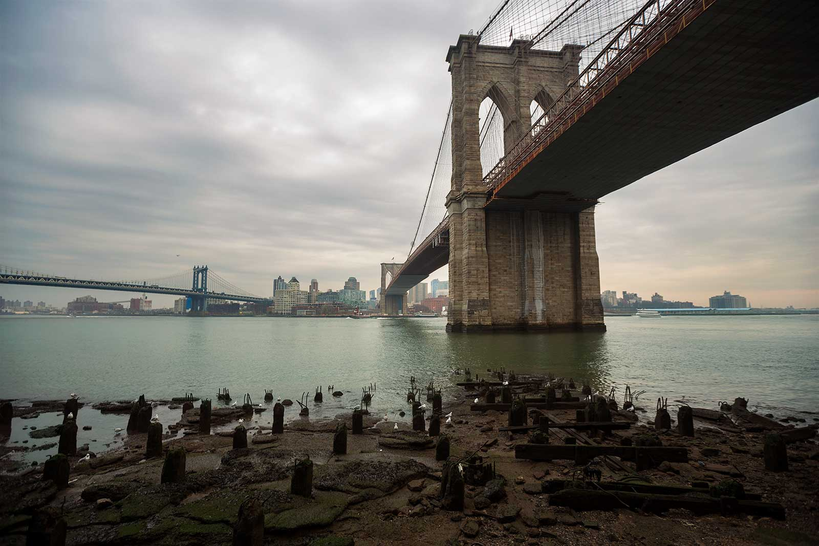 Brooklyn Bridge is one of the oldest of its kind in the United States and an iconic landmark of New York City.