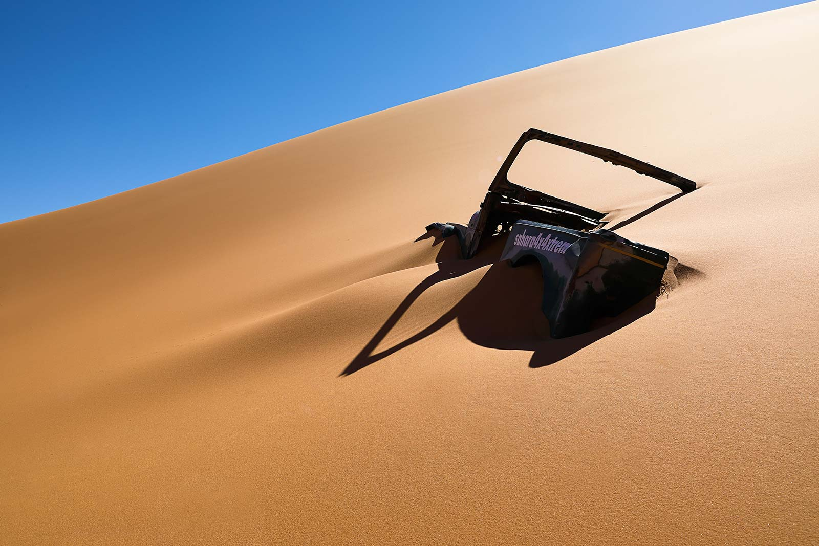 When trying your luck with the Erg Chebbi sand dunes, be sure to know what you're doing, or you'll end up digging...