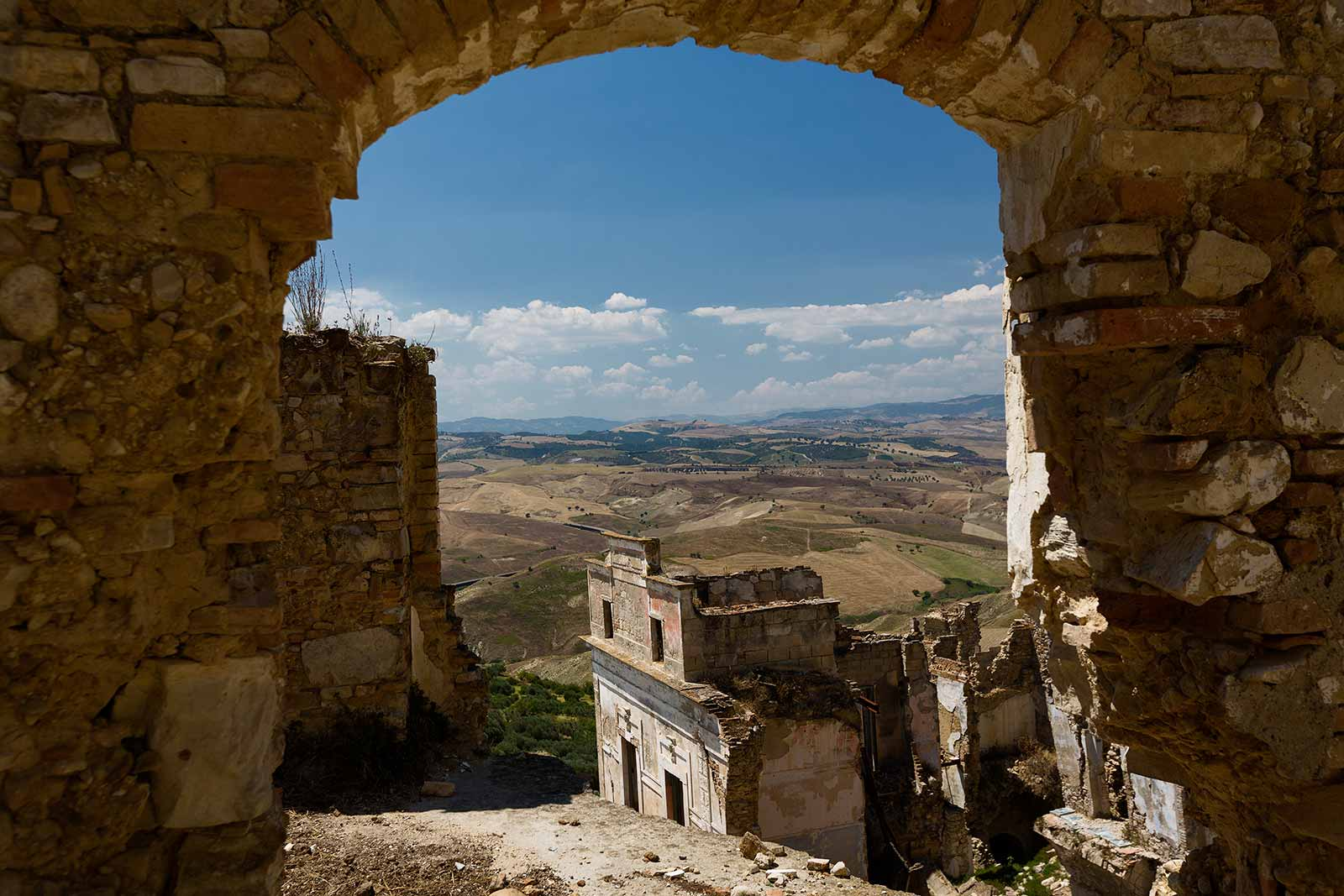 Craco was built upon a hillside with the safety of its population in mind. Today, the views over the surround region are absolutely stunning!