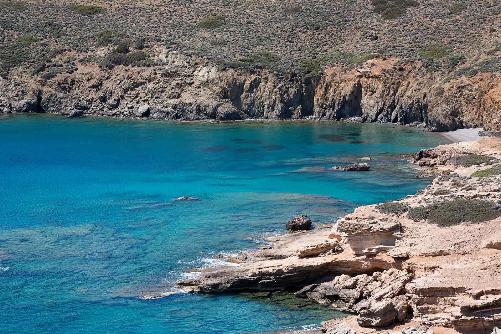 Todas las playas de Astipalea tienen aguas cristalinas y son mucho más tranquilas que las playas de otras islas griegas.