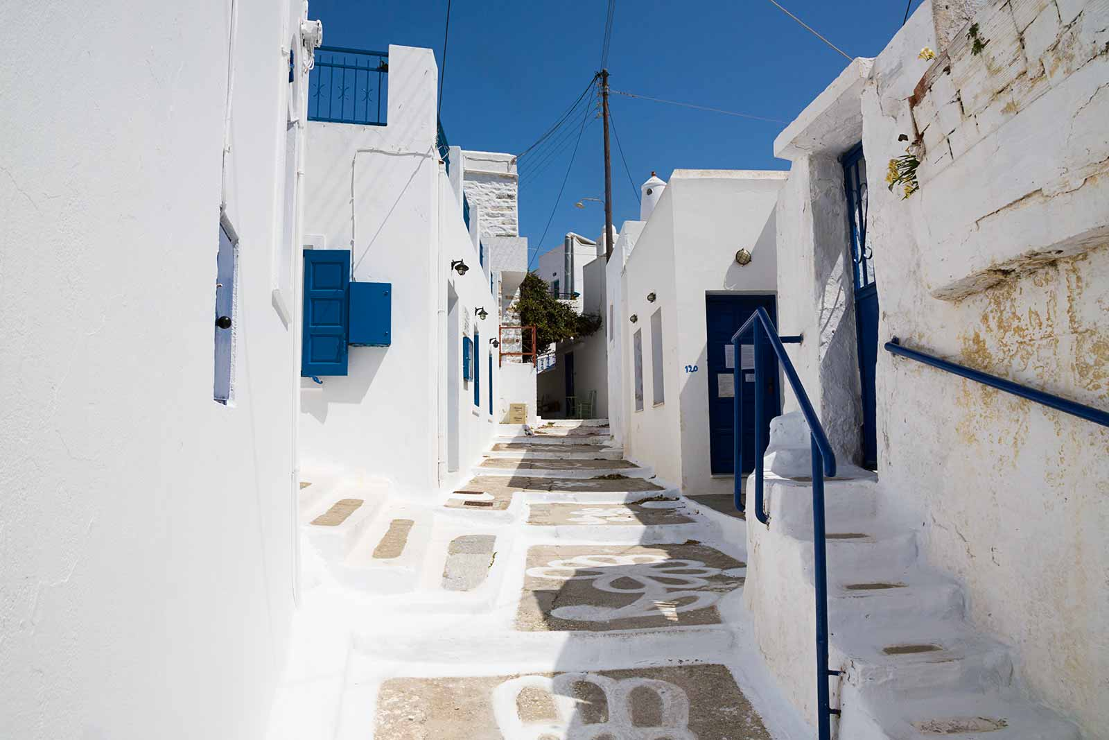 Strolling through the streets of Chora is the best way to explore the village.