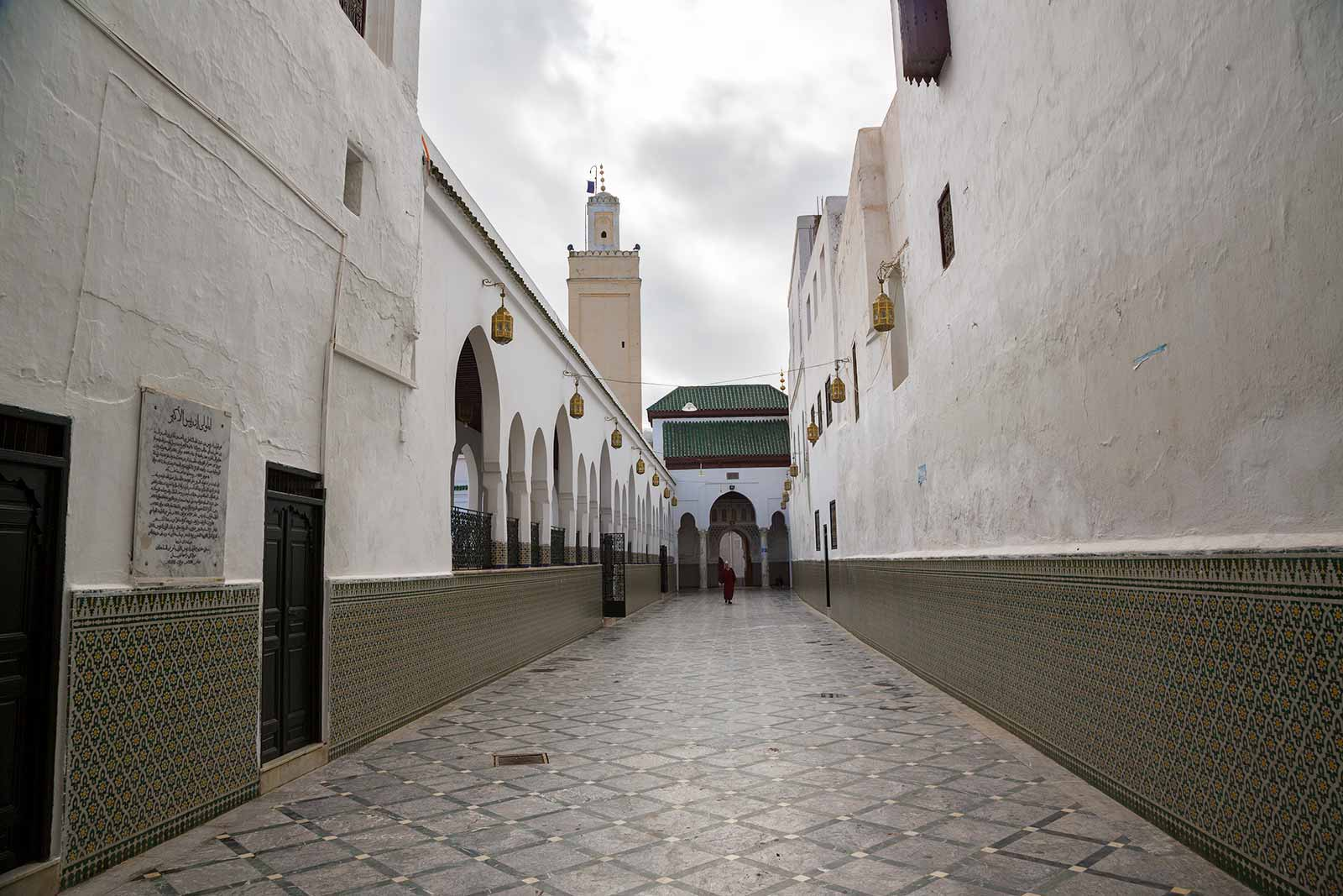 The Mosque and Mausoleum in Moulay Idriss.