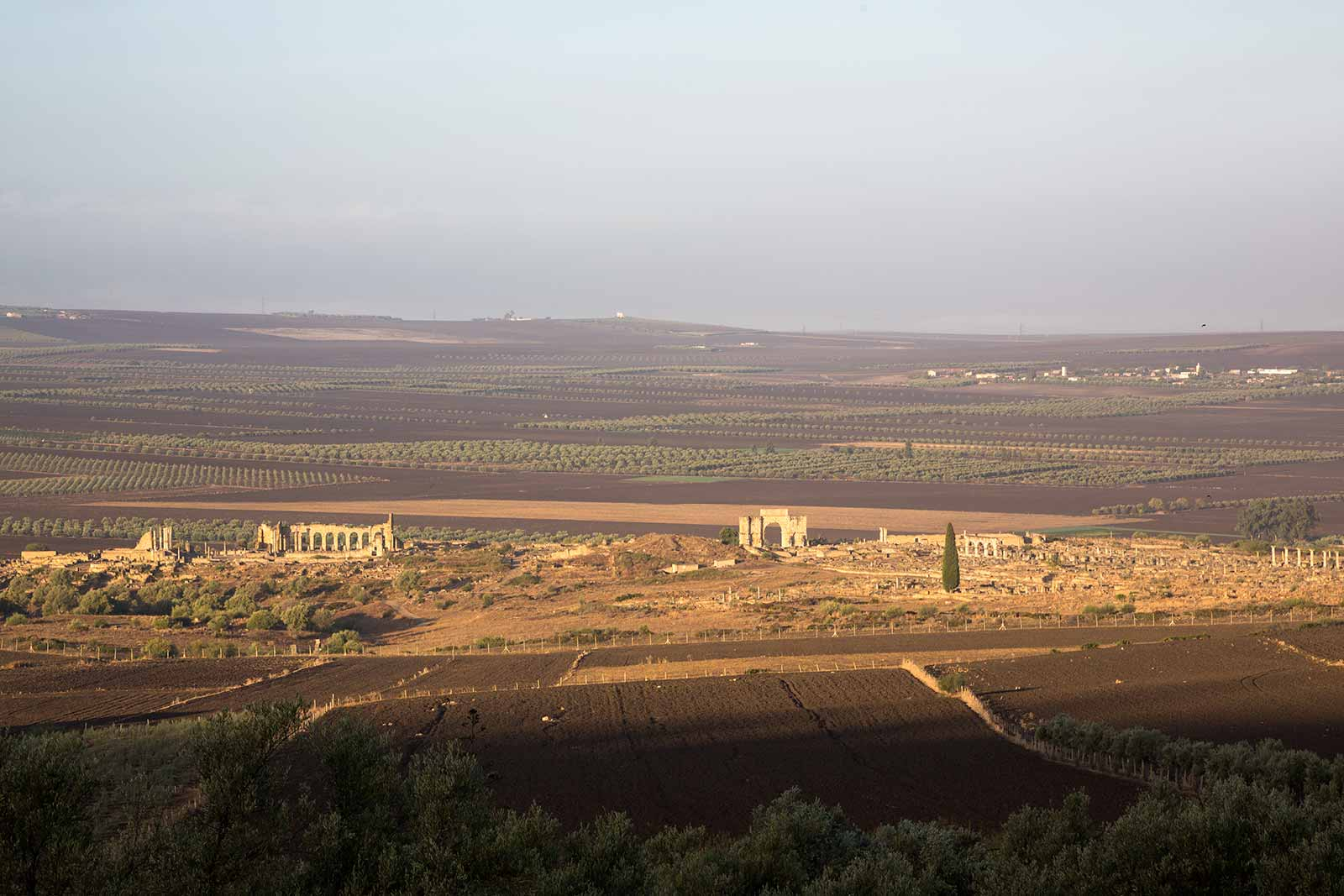 The archaeological Site of Volubilis is a UNESCO World Heritage Site. Volubilis is a partly excavated Roman city, commonly considered as the ancient capital of the Roman-Berber kingdom of Mauretania.