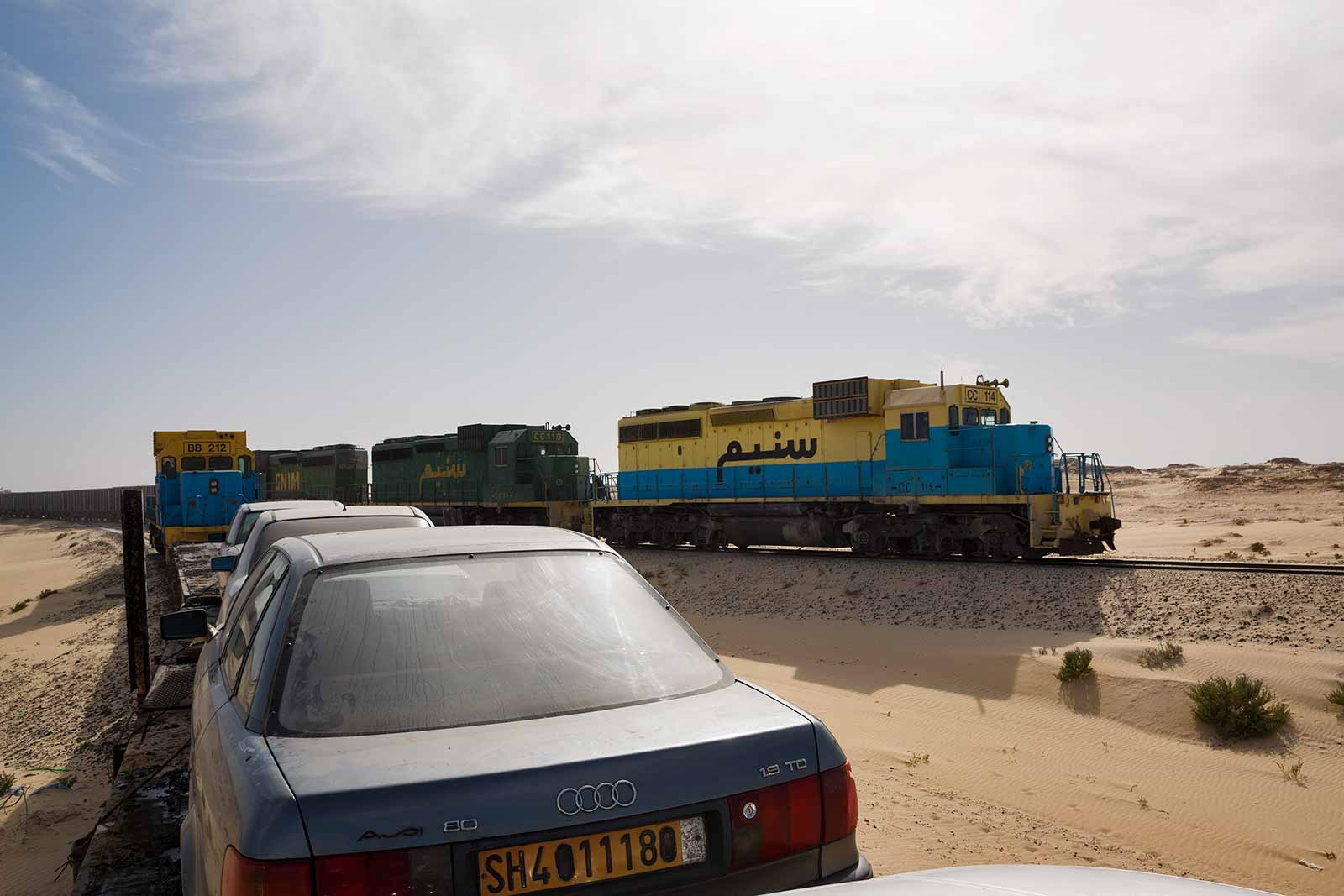 The Mauritania Railway serves not only as the sole connection between remote locations and the country's only major shipping port, Nouadhibou, but as free transport for locals seeking to travel from isolated communities to the coast.