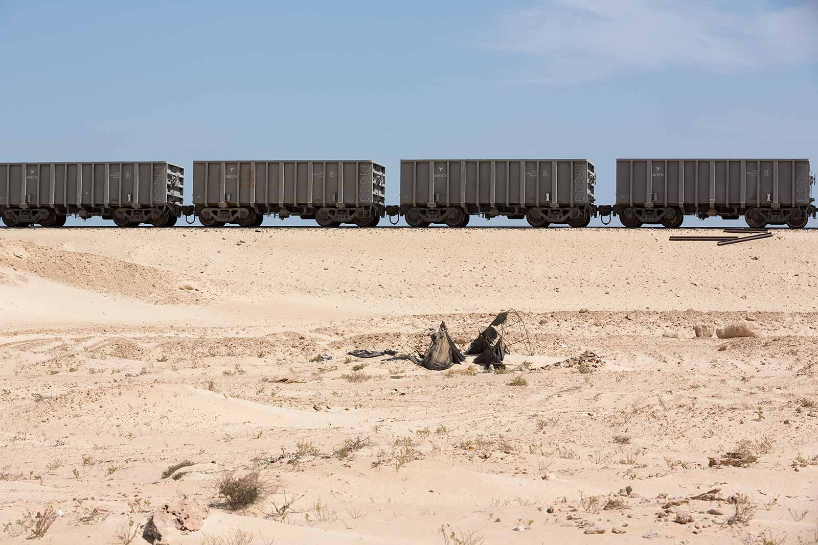 The Mauritanian Railways opened in 1963. It consists of a single, 704 km railway line linking the iron mining centre of Zouérat with the port of Nouadhibou.