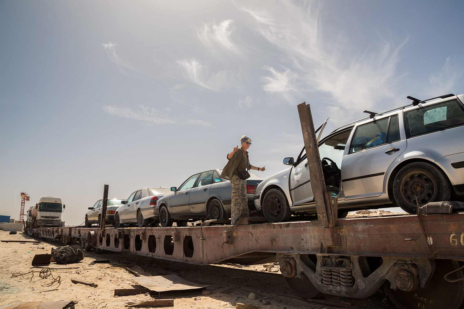 Uploading my car onto the Iron Ore Train in Nouadhibou was already an adventure itself.