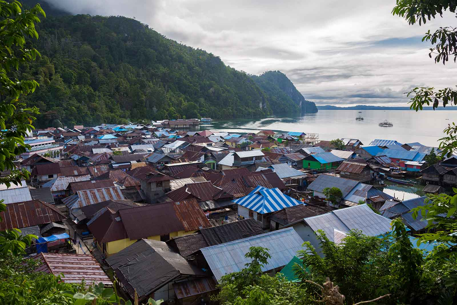 Maluku Islands: As seen here, Sawai village is located far away from civilisation and therefore not visited by tourists often.