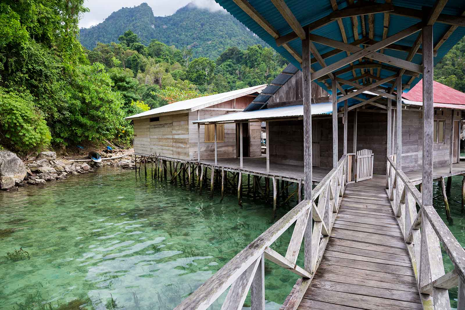 Maluku Islands: Lisar Bahari Resort in Sawai is definitely the place to stay at. You might not have sand beaches here, but you can jump into the crystal clear water straight from your room, which is not too bad if you ask me.