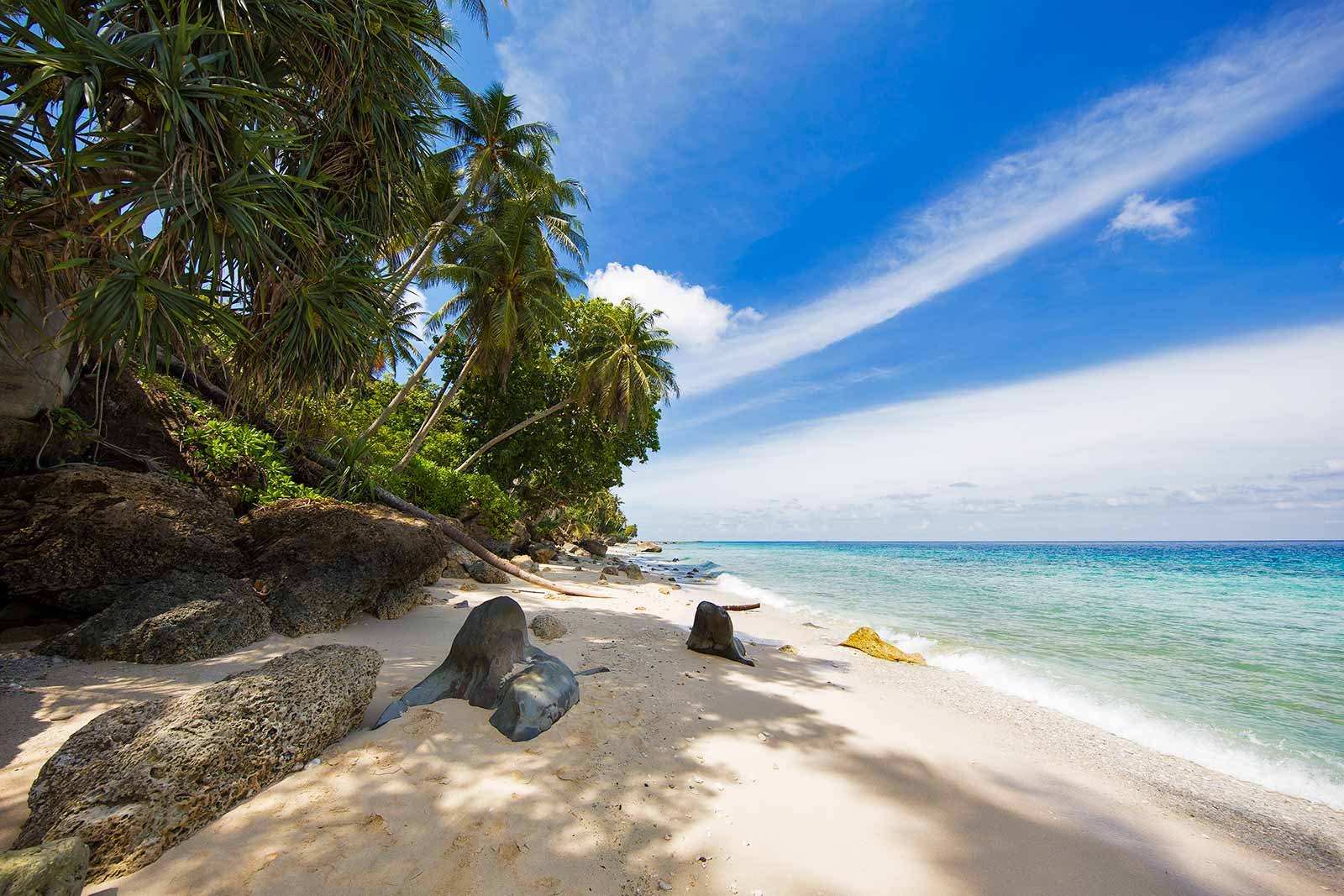 The beach in front of Casa Nemo is the nicest on on Pulau Weh.